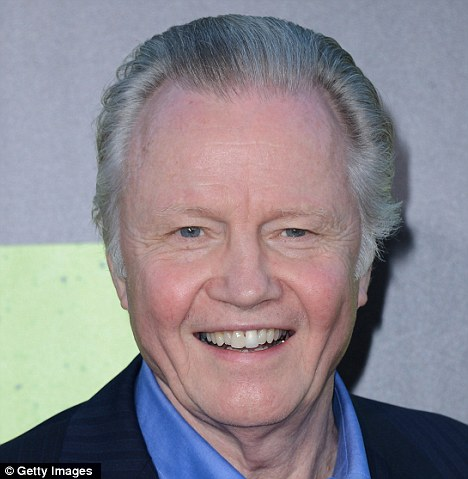 Support: Angelina Jolie's father, Jon Voight, has stepped in to defend the anti-gay marriage stance of his in-law Jane Pitt