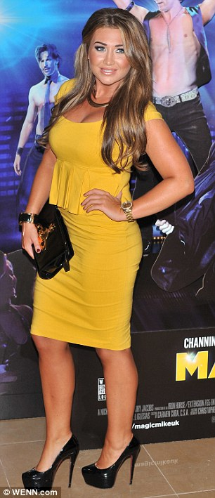 Here to see the boys: TOWIE stars Lauren Goodger and Billi Mucklow turned up to the screening