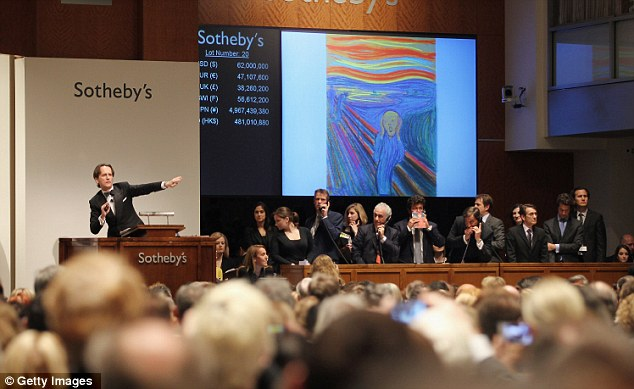 Auction: The buyer of The Scream in pastel was unknown until now, as Mr Black did all his bidding by phone and was up against four other buyers from the U.S. and China
