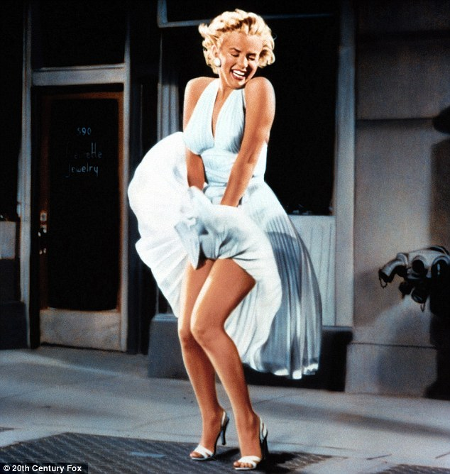 The original: Marilyn's dress blowing up in The Seven Year Itch back in 1955