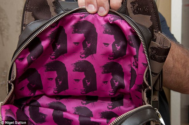 The Philip Treacy bag has a distinctive Elvis Presley print design by Andy Warhol. It's believed only 100 were made