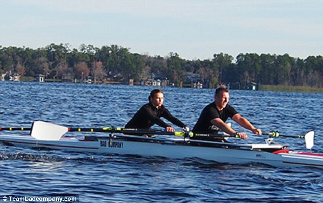 Partners: Paralympic Rower Oksana Masters and partner Rob Jones, pictured, train six days a week