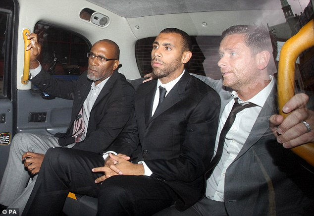 Anton Ferdinand, pictured leaving Westminster Magistrates' Court after giving evidence accused Terry of racially abusing him