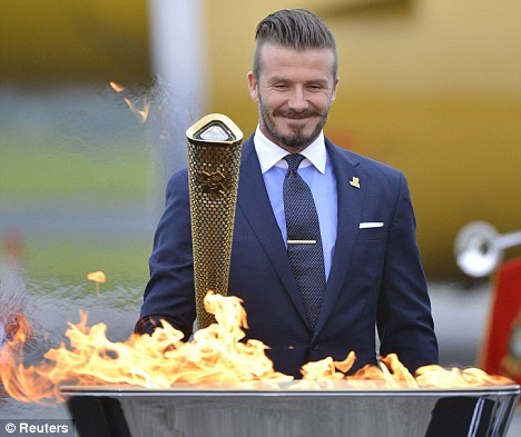 Lighting the flame: Although he lit the Olympic flame in RNAS Culdrose, Cornwall in May, he has ruled him out of doing so at the opening ceremony