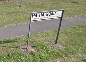 Ha-Ha Road in Woolwich, south-east London