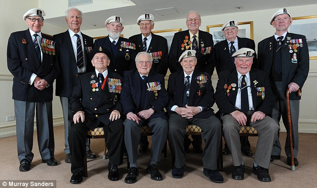 Brave veterans of the Arctic Convoy, pictured last year