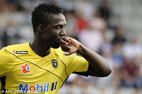 Sealed with a kiss: Modibo Maiga is heading for the Premier League