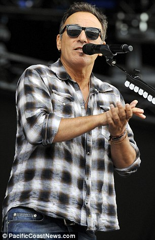 Bruce also sported a check shirt as he took to the stage at Hard Rock Calling