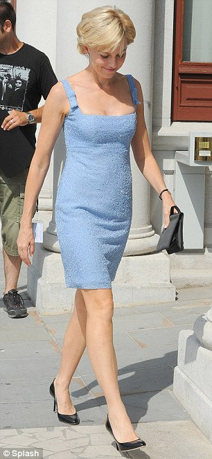 Just like Diana: Watts has been sporting the late Princess' short blonde hairstyle for quite some time now