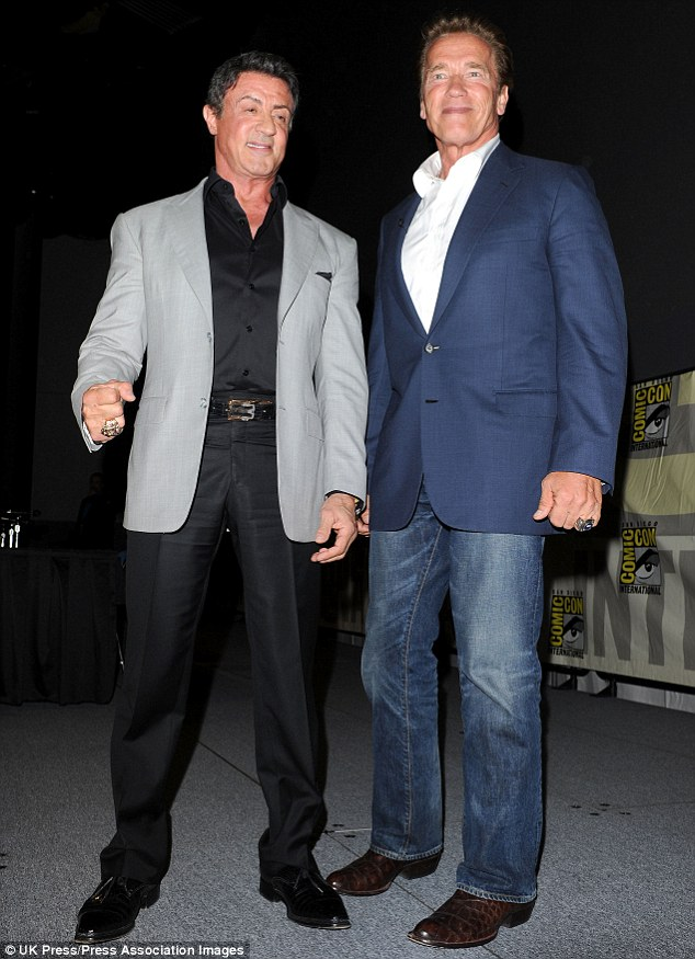 Dear friend: Arnold Schwarzenegger released a statement expressing his sorrow and saying that he is here to support Sylvester