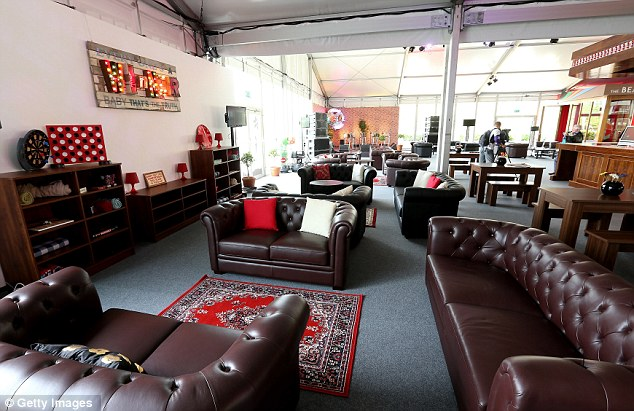 Luxurious: Athletes in the Olympic Village will have access to a nice bar area complete with comfy armchairs and games