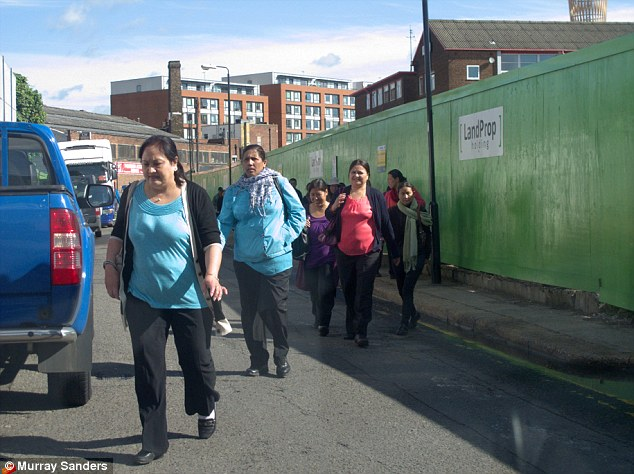 Employment: Hundreds of people have come from abroad to work at the Olympic Park