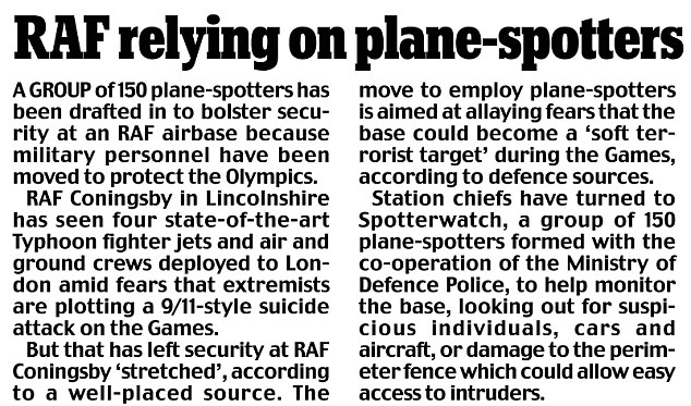 RAF plane-spotters