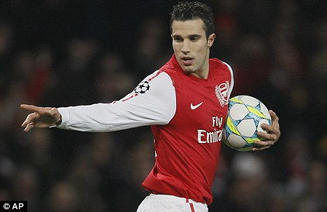 Contract rebel: Van Persie has one year to run on his Arsenal deal