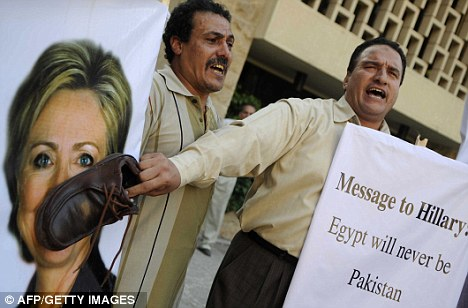 Protestors in Egypt fear that America is over-exerting its influence and meddling in the country's affairs
