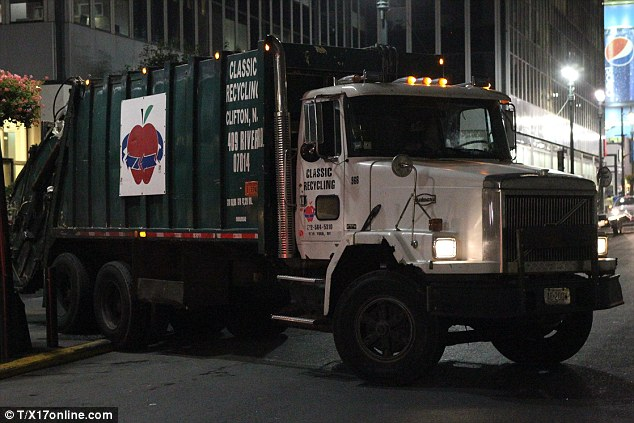 A dumptruck from Classic Sanitation Recycling New York Corp, based in Clifton, New Jersey, was seen at the accident site