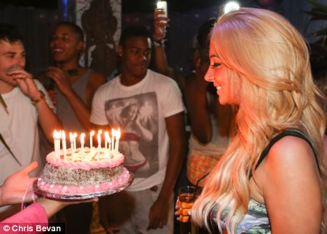 Birthday girl: Tulisa celebrated her 24th birthday with a wild getaway in Ibiza