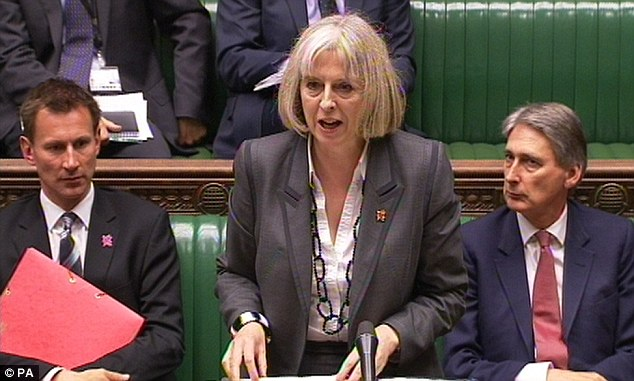 Debacle: Home Secretary Theresa May has appeared before MPs twice in the last week over the row