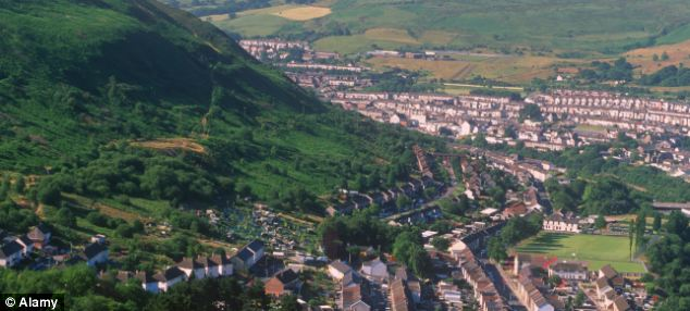 Tonypandy was once a centre of the South Wales coal mining industry.