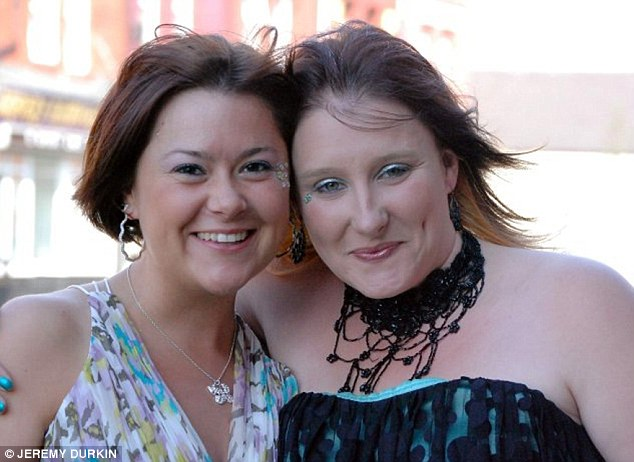Best friends: Aimee and Kirstie pictured before they became an item