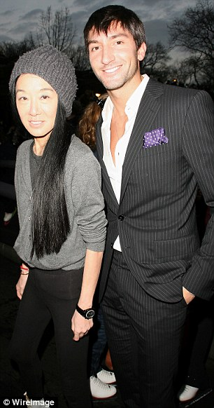 Vera Wang and Evan Lysacek attend the 2011 Skating With the Stars Gala on April 4, 2011