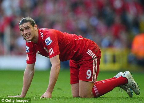 Hey Andy: Newcastle have made a bid to bring Andy Carroll back to the club