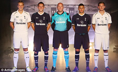 Title charge: Vertonghen (far right) believes Spurs can challenge for the Premier League this season