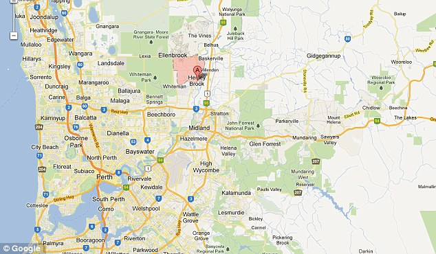 The tragic incident took place in the Henley Brook area of Perth, Western Australia