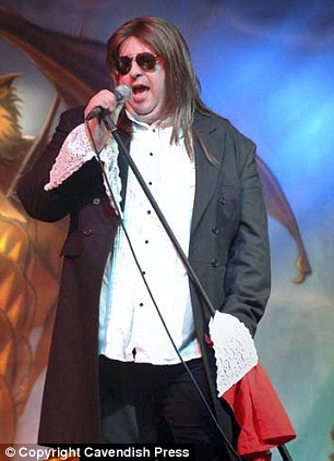 Dean performing at Meat Loaf