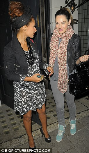 Close friends: The girls regularly engage in banter over Twitter and go on nights out in the capital
