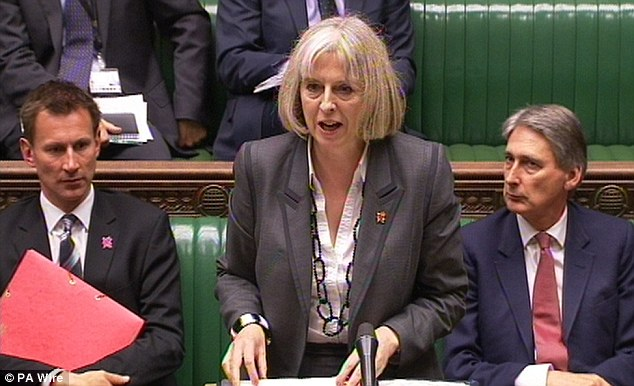 Home Secretary Theresa May, pictured in the House of Commons earlier this week, was warned of a potential security shortfall at the end of last month