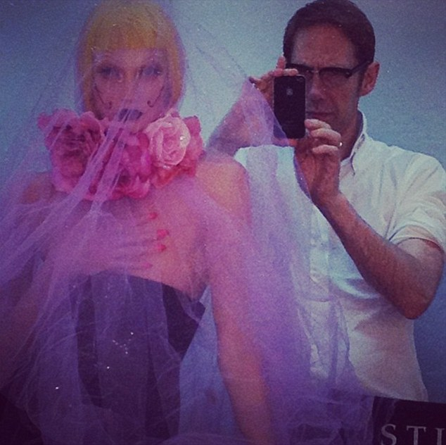 Nick Knight (pictured) shots Karlie Kloss while they wait for the Iris Van Herpen dress to arrive
