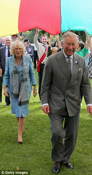 Go!: The parachute is lifted as the Royals head underneath