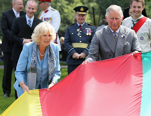 Steady ... :The Prince of Wales and the Duchess of Cornwall are in Guernsey as part of a Diamond Jubilee visit to the Channel Islands taking in Jersey, Guernsey and Sark