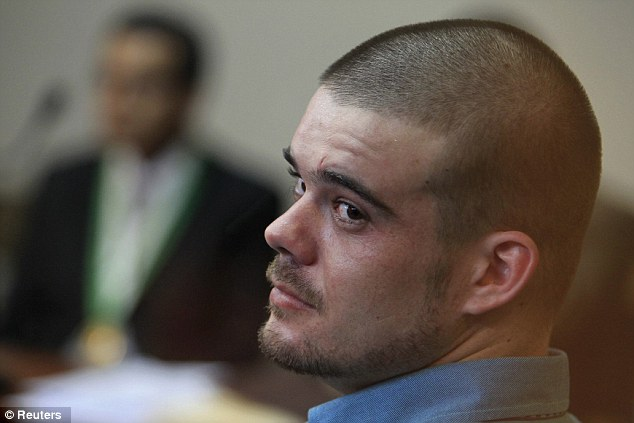 Tying the knot? Dutch citizen Joran Van der Sloot, pictured in January, is rumoured to be getting married whilst in prison in Peru