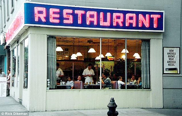 Local haunt: Mr Obama used to frequent nearby Tom's Restaurant which also provided the exterior shot for the fictional Monk's Café in sitcom Seinfeld