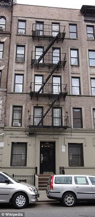 Typical: The exterior of 142 West 109th Street on Manhattan's Upper West Side, which houses Mr Obama's former apartment