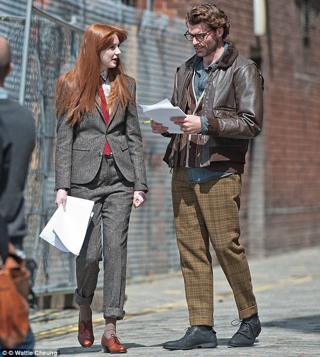 Moving on: Karen filmed her final scenes for Doctor Who last month