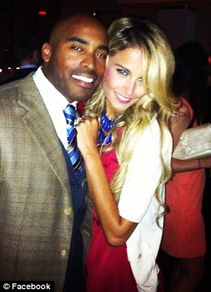 Tiki Barber and Traci Lynn Johnson pose for a picture before their wedding. The couple went public with the previously clandestine affair in 2010
