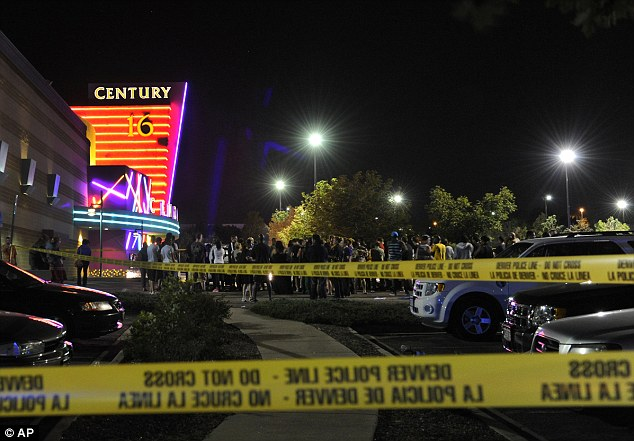 Scene of terror: The cinema in Aurora, Colorado, where a gunman killed 12 people and injured 59 at a midnight showing of The Dark Knight Rises