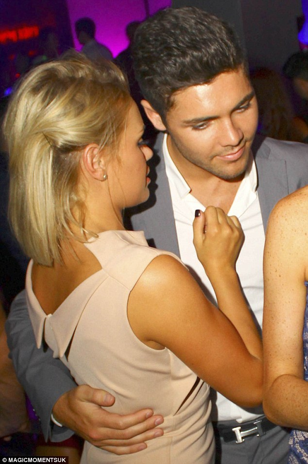 Close: The reality TV stars appeared to be getting along well as they partied in London's Aura nightclub
