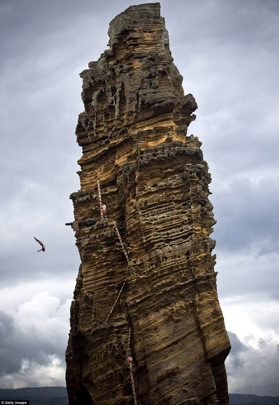 The third stop of the Red Bull Cliff Diving World Series is taking place on the Islet of Vila Franca do Campo in the sunny Azores