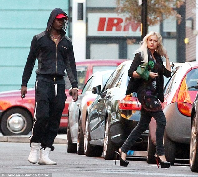 Exes: Khloe hit the press earlier this year when it emerged she had been dating Italian striker Mario Balotelli for a reported two years