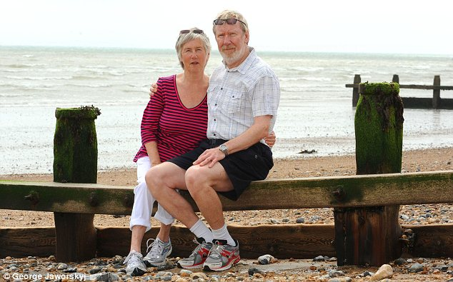 Cautious: Babs and Brian Lee, from Littlehampton, West Sussex, have switched savings into with-profits Isas
