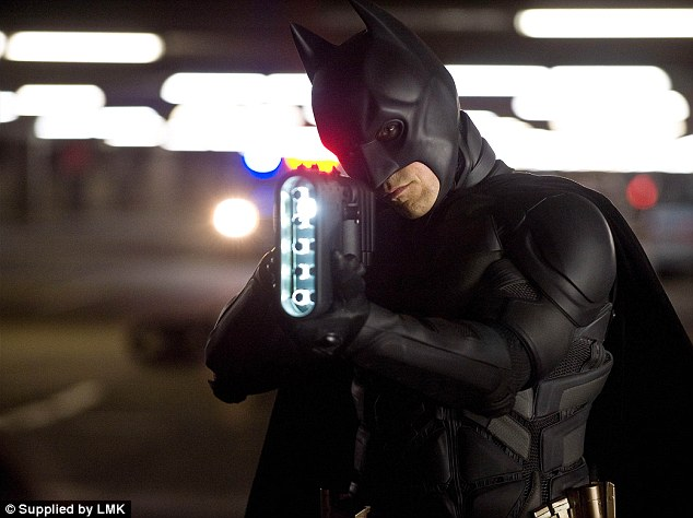 Christian Bale as Batman in the  Warner Bros upcoming film: The Dark Knight Rises (2012)