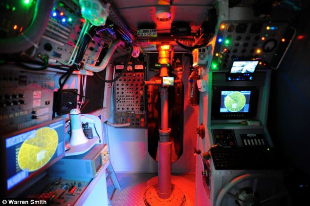 The boast cost Captain Williams £50,000 to make and the interior was made with the help of prop-workers from the James Bond and Star Wars movies
