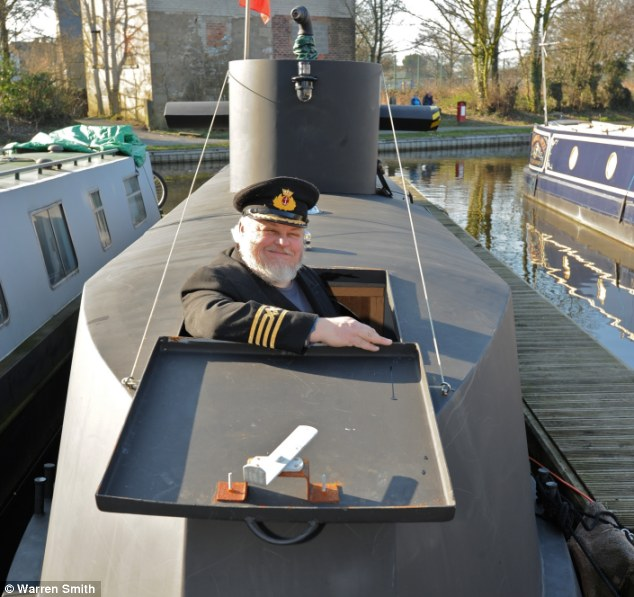 Captain: Richard Williams built the replica from an old canal narrowboat and now welcomes visitors to his museum