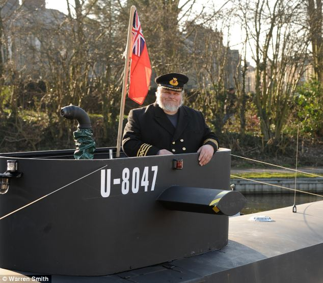 The floating museum is a hybrid of a German U-boat and a British Submarine from the Second World War