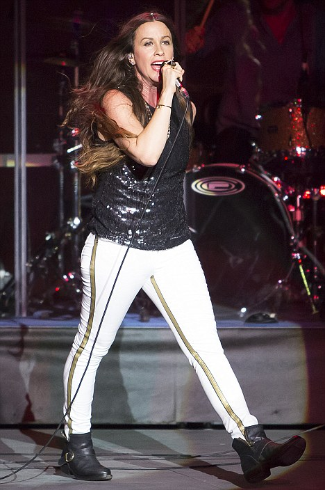 Creating havoc and light: Canadian rocker Alanis Morissette is back on tour after a four year hiatus