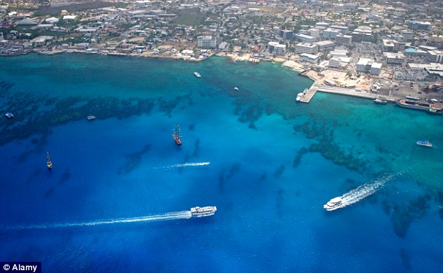 The Cayman Islands ranked highly in a list of nations where a large quantity of the huge sums are heading annually